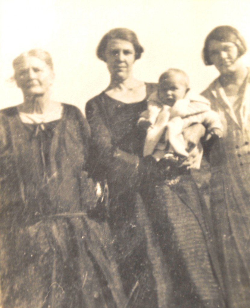 1927. My Great-Grandma Jordan (my maternal grandmother's mother) holding my Grandma Ruby Jordan